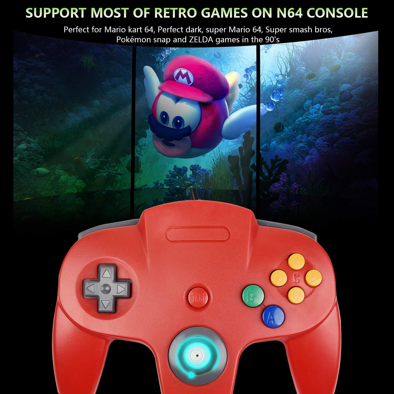 Classic N64 Controller, kiwitata Retro Wired Game Controller ...