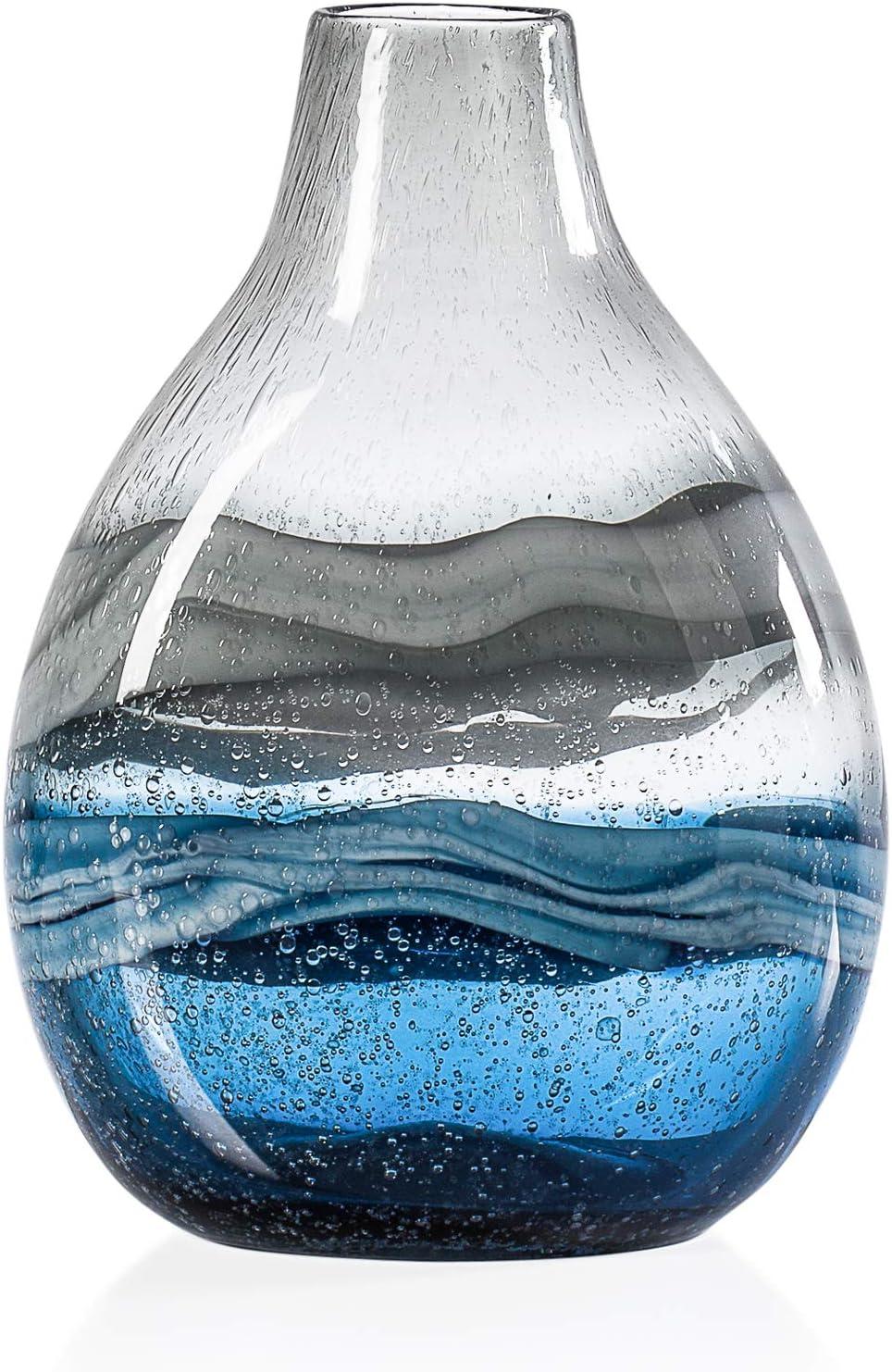 Torre /& Tagus 902524B Andrea Swirl Glass Bulb Vase Amber Short