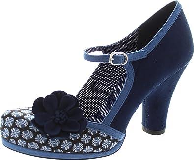 9b829dda TANYA (Blue) by Ruby Shoo - Size 9/42: Amazon.co.uk: Shoes & Bags