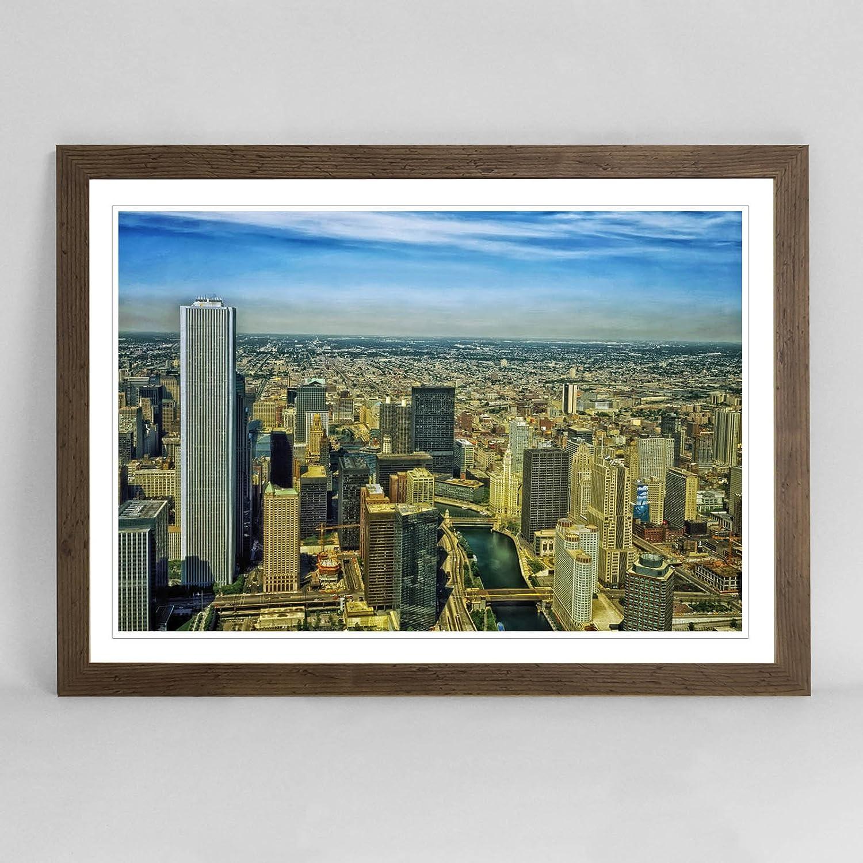Berühmt Chicago Skyline Gerahmte Kunst Zeitgenössisch - Familienfoto ...