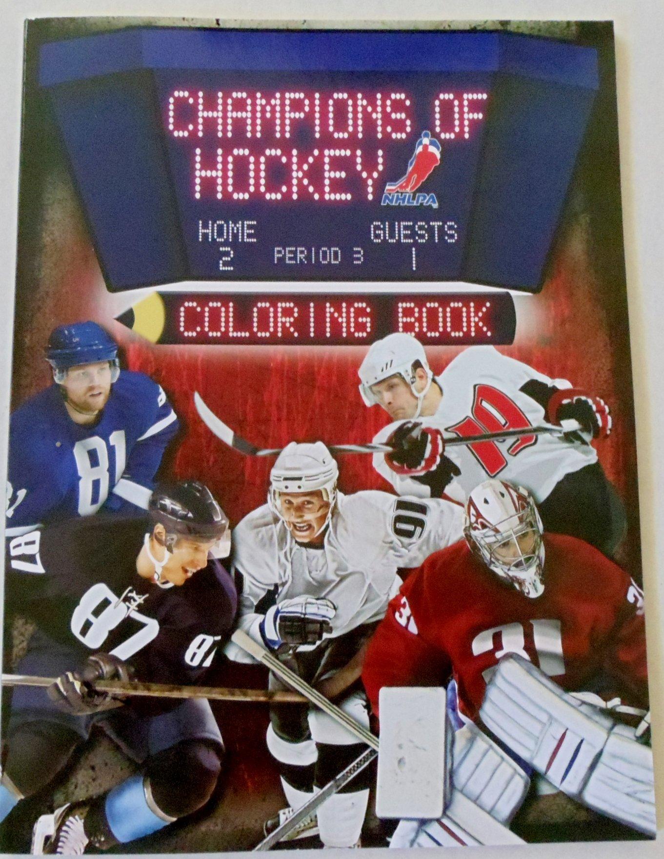 champions of hockey coloring book nhlpa nhlpa 0062255078654 amazoncom books
