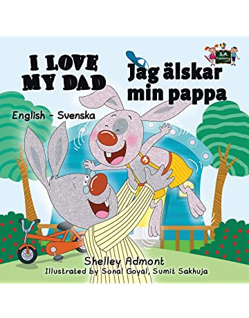 I Love My Dad (english swedish kids books, swedish baby book, swedish childrens