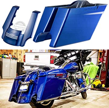 Us Stock Advanblack Superior Blue 4 1//2 inch Stretched Rear Fender Extension Fit for Harley Touring Road King Street Glide Special 2014 2015 2016 2017 2018 2019