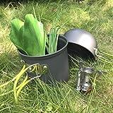 TOMSHOO Camping Stove,Camping Cookware Set Mini Gas Stove with Camping Pan Pot for Camping Picnic
