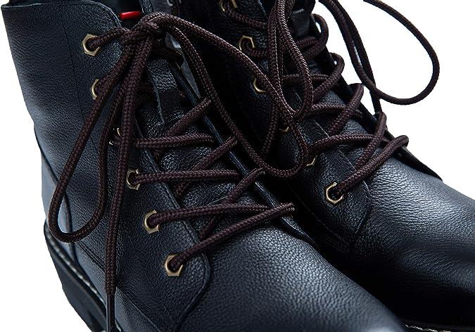 0.8 cm de ancho lorpops Cordones de bota de algod/ón encerado plano Cordones para zapatos de vestir Botas de cuero UK 2 pares