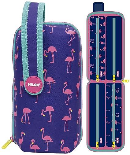 Estuche milan kit 4 estuches con contenido flamingos: Amazon.es ...