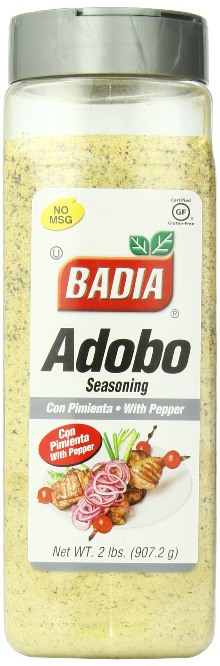 Badia Adobo with Pepper, 2 Pound (Pack of 6)
