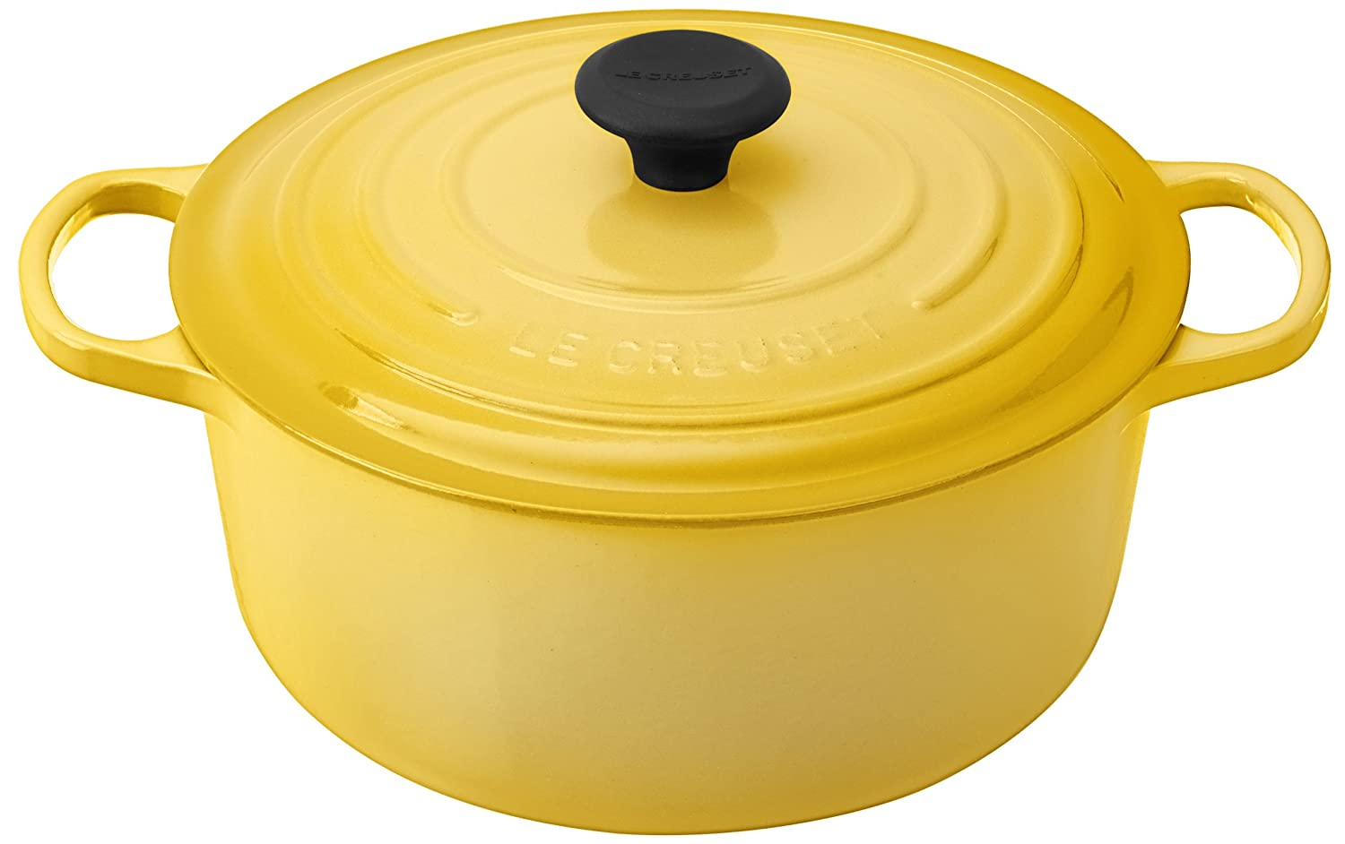 Le Creuset Signature Enameled Cast-Iron 5-1/2-Quart Round French (Dutch) Oven, Soleil