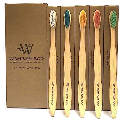 WAM BAM BOO - Cepillo de dientes de bambú - Paquete familiar ...