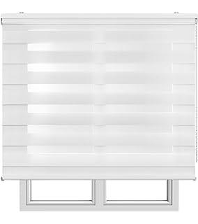 Estores Basic, Stores noche y día, Blanco, 120x250cm, estores plegables, persianas