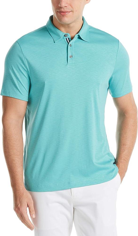 Perry Ellis Mens Ultra Soft Touch Slub Short Sleeve Polo Shirt