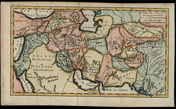 Map Of Asia Jordan.Amazon Com Asia Minor Arabia 1772 Map Turkey Middle East Holy Land