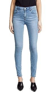 18122cefe60f Amazon.com  J Brand Womens Maria High Rise Faded Skinny Jeans Blue ...