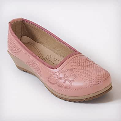 Slip On Casual Shoes for Women - Pink
