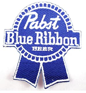 d3dba460dba Pabst Blue Ribbon PBR Beer Patches 7x7.8 Cm Iron on Patch embroidered Patch