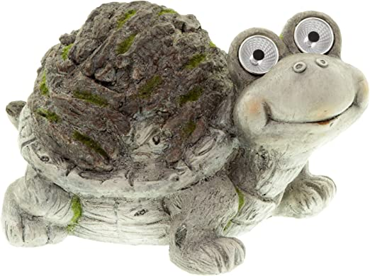 Deko Solar Figura tortuga Jardín Figura con luz solar 35 cm: Amazon.es: Jardín