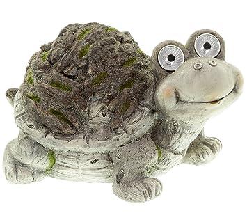 Deko Solarfigur Schildkröte Gartenfigur Mit Solarlicht 35 Cm Amazon
