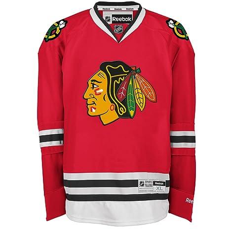 Reebok Chicago Blackhawks Premier Hockey Sul Ghiaccio NHL Maglia Home -  Rosso, L