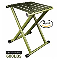 Portable Folding Stool, Super Strong Heavy Duty Outdoor Folding Chair Hold up to 600 lbs