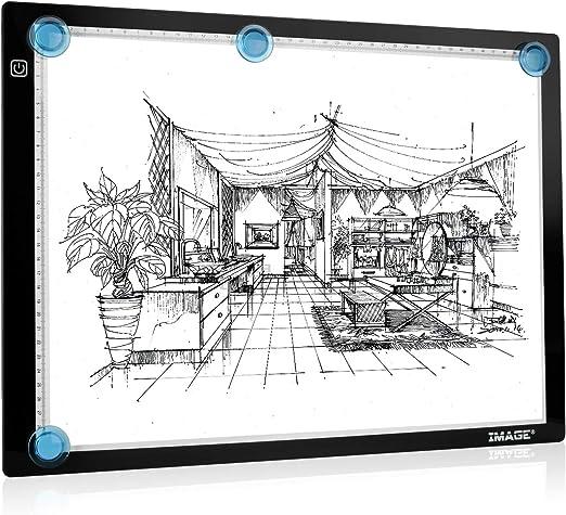Mesa de Luz Dibujo A3, LED Tableta de Luz de Iluminación,Botón ...