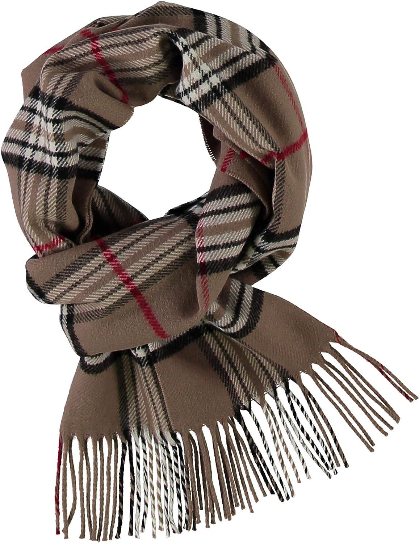 sciarpa tessuta di alta qualit/à per gli over periodo transitorio sciarpa caldo con motivo a quadri Giorgio Rimaldi mens scacchi sciarpa forMade In Germania