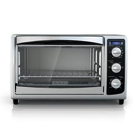 BLACK+DECKER TO1675B 6-Slice Convection Countertop Toaster Oven, Includes Bake Pan,