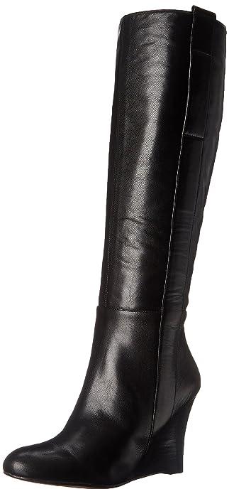 ebbbae12b37f Nine West Women s Oran Leather Knee High Boot