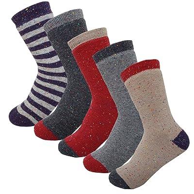 4&5Pack Women's Winter Thermal Fleece Lined Socks