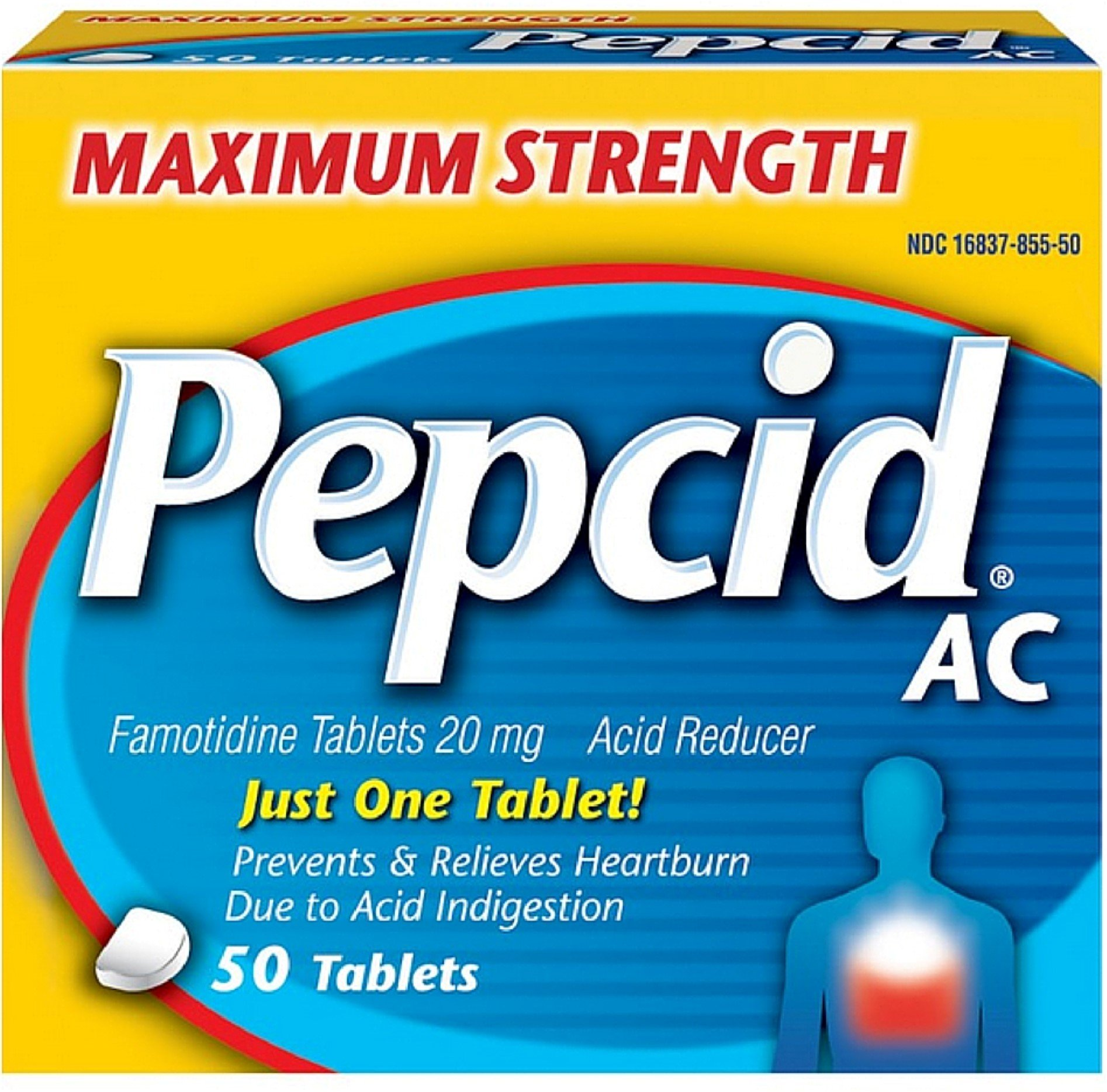 Pepcid AC Tablets Maximum Acid Reducer 50 ea ( Pack of 7) by Pepcid