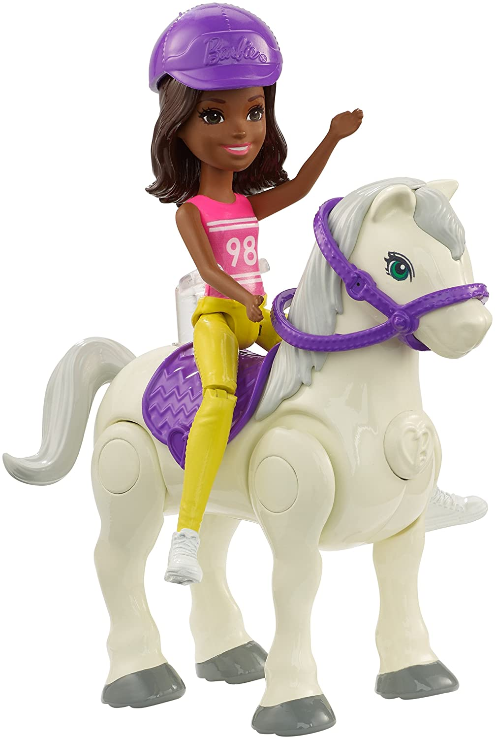 Barbie On The Go White Pony and Purple Fashion Doll Mattel FHV64