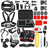 SmilePowo 42-in-1 Accessory Kit For Gopro Hero5 Black, Hero5 Session, Hero6 Black, Gopro Fusion, Hero 4 Silver Black, Hero Session, Accessory Bundle Set For Gopro Hero3 Plus 3 2 1, SJ Cam Xiaomi