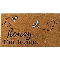 "Elrene Home Fashions Farmhouse Living Honey I'm Home Bee Coir Doormat, 18"" x 30"", Natural"