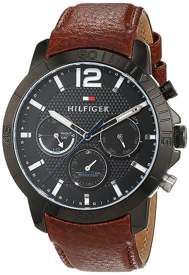 Tommy Hilfiger 1791269 - Reloj análogico de cuarzo con correa de cuero para  hombre 01284a7dbd76