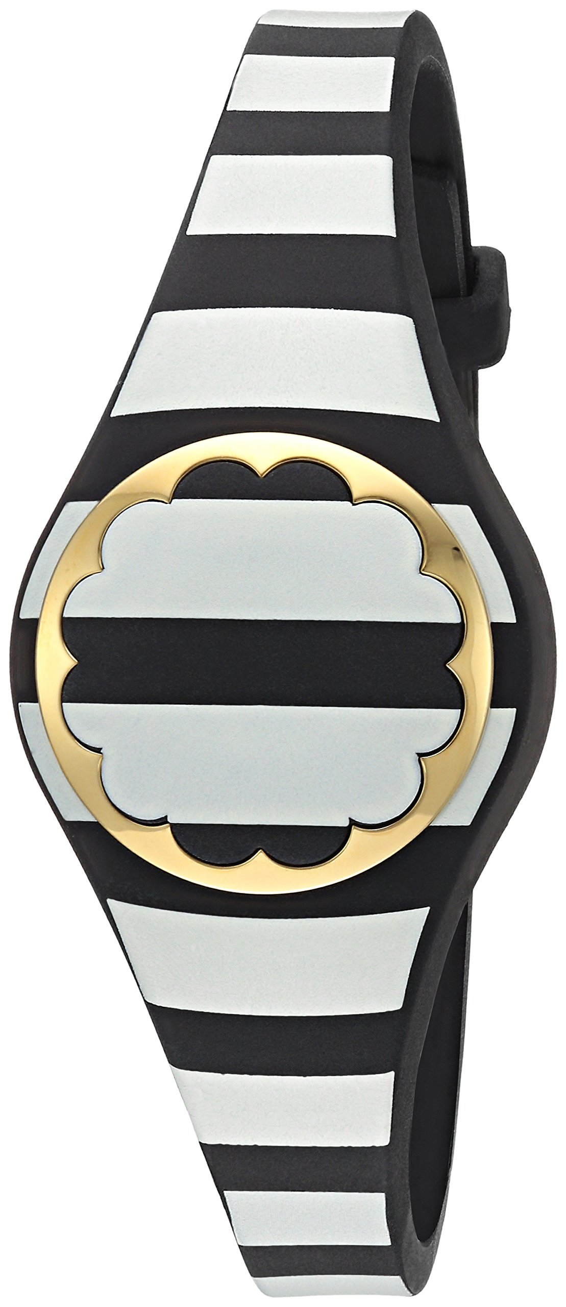 Kate Spade New York black and white stripe scallop activity tracker by Kate Spade New York (Image #2)