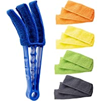 Hiware Window Blind Cleaner Duster Brush with 5 Microfiber Sleeves - Blind Cleaner Tools for Window Blinds Air…