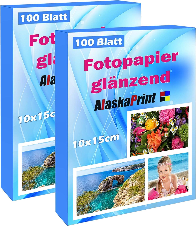300 Blatt Fotopapier Fotokarten 10x15cm 180g//m² weiß glänzend glossy Photopapier