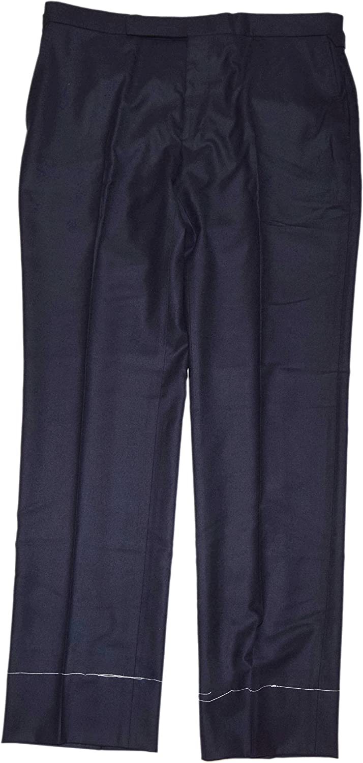 Ralph Lauren Polo Purple Label Mens Wool Dress Pants Flat Front Italy Navy 38