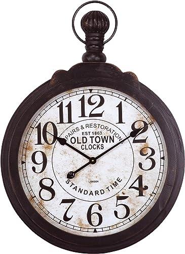 Yosemite Home Decor Black Metal Timepiece Wall Clock