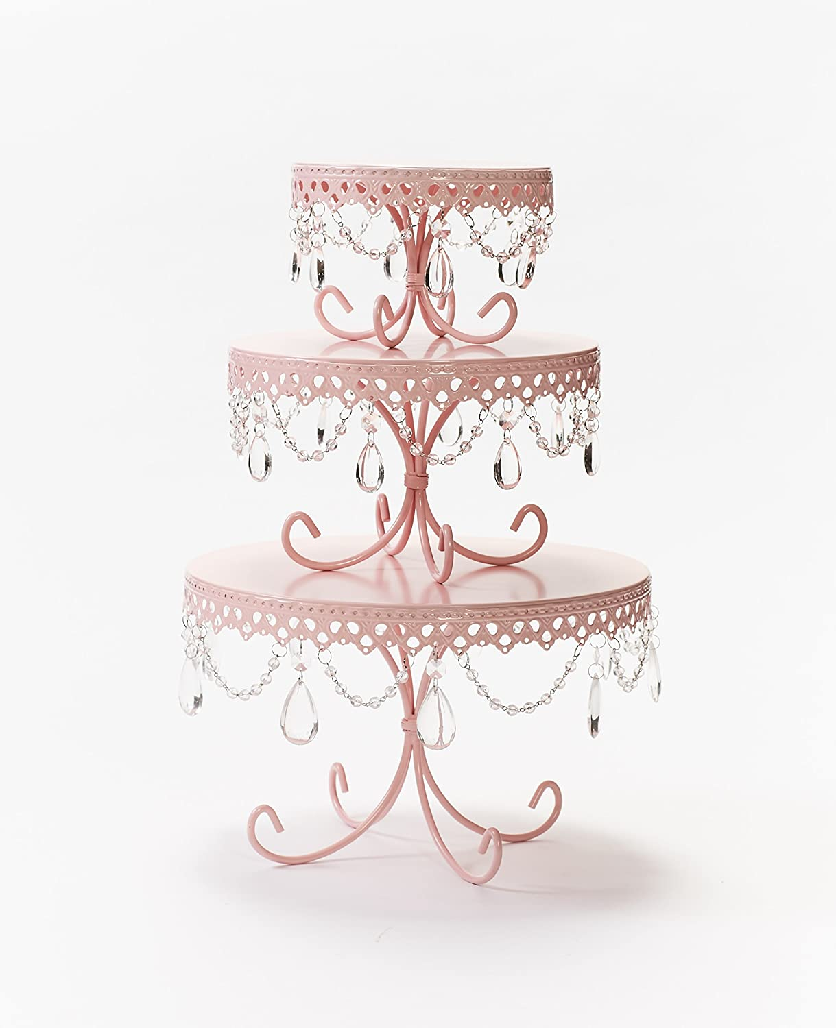 Amazon opulent treasures loopy cakes chandelier cake plates amazon opulent treasures loopy cakes chandelier cake plates set of 3 pink home improvement arubaitofo Image collections