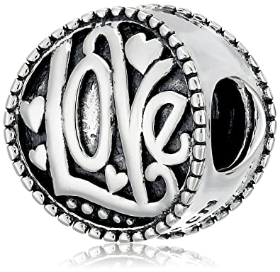 0ef32f632a261 Amazon.com: Chamilia Sterling Silver Groovy Love Bead Charm: Jewelry