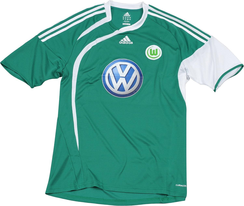 adidas Camiseta del VFL Wolfsburg para 2009/2010, Hombre, Verde/Blanco: Amazon.es: Deportes y aire libre