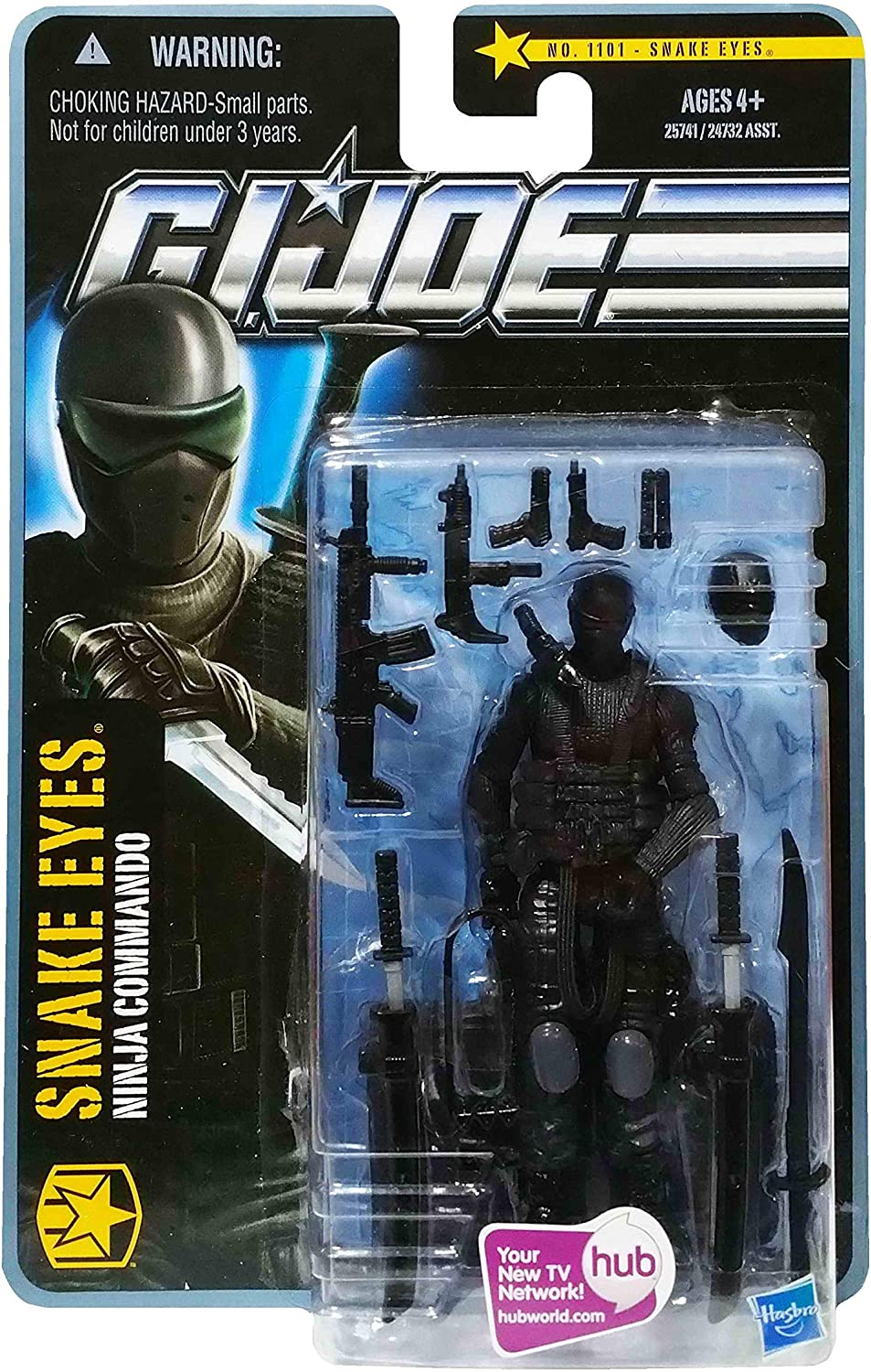 GI Joe The Pursuit of Cobra (POC) #1101: Snake Eyes (Ninja Commando) 3.75 Inch Action Figure