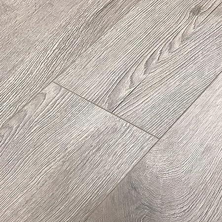 Natural Grey Oak Laminate Flooring Krono Lambardia 8mm Ac4
