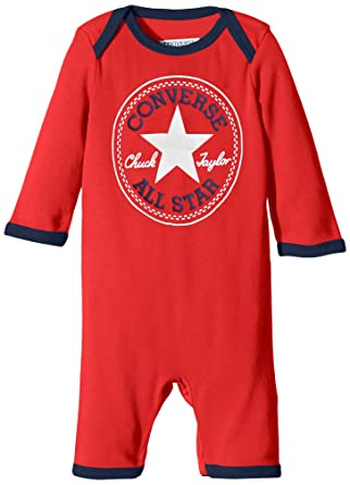 3891b1717 Converse Baby Boys' 0-24m Core Chest Tee Patch Romper Red (Casino) 6 ...
