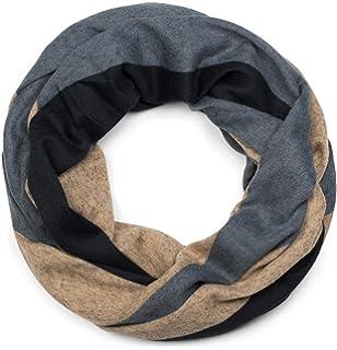 styleBREAKER écharpe tube en maille fine avec motif imprimé ondulé, foulard  loop, unisexe 01017080 a1a47b43900
