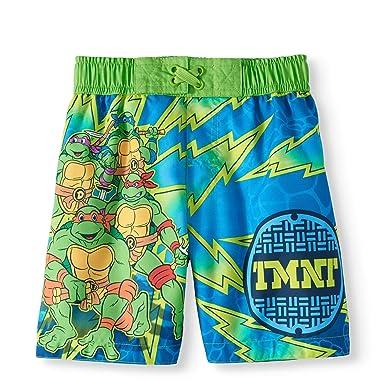 Amazon.com: Bañador para niños, diseño de tortugas Ninja ...