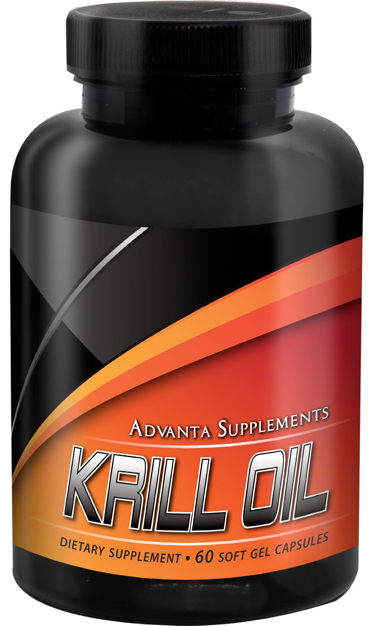 Krill Oil Capsules by Advanta Supplements | Control Cholesterol Level, Support Heart/Brain/Joint Health And Reduce Inflammation | 500mg Of Pure Krill Oil Per Capsule, 60 Soft Gel Capsules