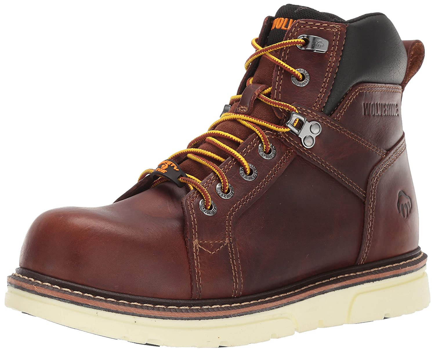 Brown 648 Wolverine Mens I-90 DuraShocks Wedge 6  Industrial shoes