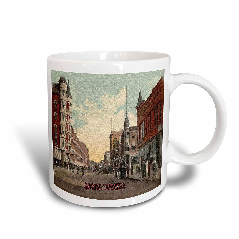 Multicolor Boise Vintage 11 oz 3dRose mug/_60278/_1Main Street Idaho Ceramic Mug