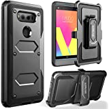 LG V20 Case,SOPKASE [Built-in Screen Protector] Heavy Dual Layer Full-Body Rugged Protection Locking [Belt Swivel Clip] Holster with [Kickstand] For LG V20,Black